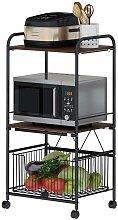 Movable Floor-Standing Kitchen Shelf 110*37*50cm