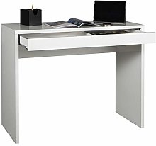 Movian Desk with 1 Drawer, Wood, White, 0