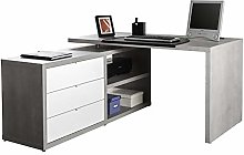 Movian Desk with Junction, Wood, Grey/White, 0