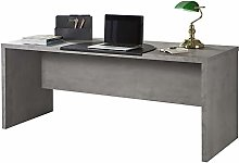 Movian Desk, Wood, Grey, 74 x 180 x 69