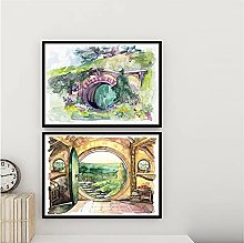 Movie Canvas Painting Watercolor Print Fantasy In