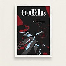 Movie Poster Goodfellas Art Home Decor Picture Bar