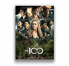 Movie Poster The 100 Canvas Poster Art Home Decor