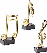 MOVKZACV 3PCs Musical Notes, Music Note Figurine,