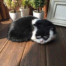 MOVKZACV Cute Sleeping Cat Ornaments, Cat Soft