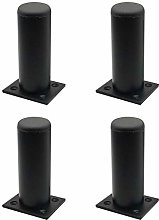 MOVKZACV Set of 4 Adjustable Black Furniture
