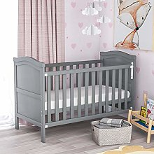 MOWIN Wooden Baby Cot Bed Toddler Bed 120x60cm