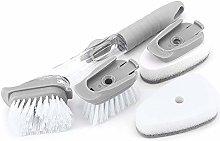 MoYouno Soap Dispensing Dish Brush with Long