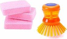 MoYouno Soap Dispensing Palm Brush, Dish Brush,