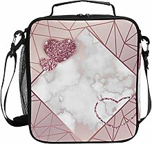 Moyyo Gold Rose Glitter Heart Lunch Bag Insulated