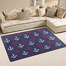 Moyyo Marine Nautical Anchor Print Floor Mat Non