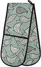 Moyyo Oven Glove Abstract Hand Drawn Chickens Hens