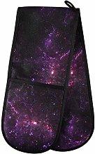 Moyyo Oven Glove Abstract Purple Nebula Double