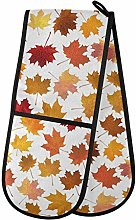 Moyyo Oven Glove Autumn Maple Leaves Double Oven