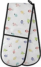 Moyyo Oven Glove Colorful Bunny Double Oven Glove