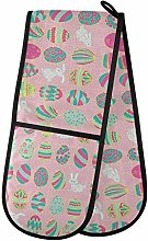 Moyyo Oven Glove Colorful Eggs Double Oven Glove