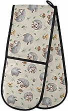 Moyyo Oven Glove Cute Animal Hedgehogs Double Oven