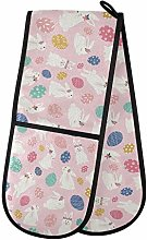 Moyyo Oven Glove Cute Bunnies Pink Double Oven