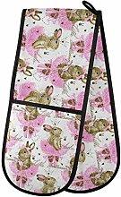 Moyyo Oven Glove Cute Bunny Animal Double Oven