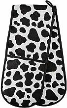 Moyyo Oven Glove Cute Cow White Black Spot Texture