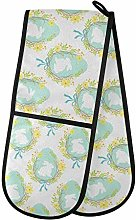 Moyyo Oven Glove Cute Eggs And Bunny Double Oven