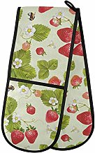 Moyyo Oven Glove Cute Green Leaves Red