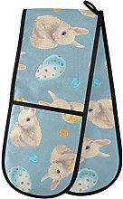 Moyyo Oven Glove Easter Eggs Bunny Double Oven