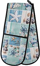 Moyyo Oven Glove Ocean Theme Collage Double Oven