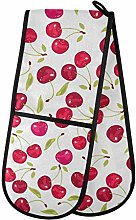 Moyyo Oven Glove Pink Cherry Berries Double Oven