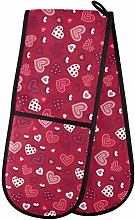 Moyyo Oven Glove Valentine Hearts And Candles