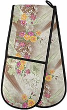 Moyyo Oven Glove Vintage Flower Double Oven Glove