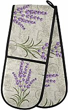 Moyyo Oven Glove Vintage Lavender Double Oven