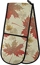 Moyyo Oven Glove Vintage Leaves Double Oven Glove
