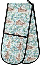 Moyyo Oven Glove Watercolor Rabbits Double Oven