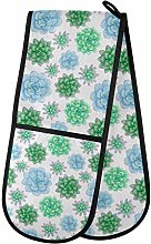 Moyyo Oven Glove Watercolor Succulents Double Oven