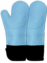 MOZX Oven Gloves with Silicone, Non-Slip Silicone