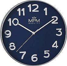 MPM Blue Silver Wall Clock