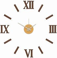 MPM Clock, Brown/Gold, Small/Normall