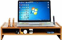 MQH Desktop Bookshelf 2 Tiers Wood Computer