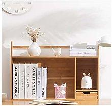MQH Desktop Bookshelf Bamboo Desk Organizer