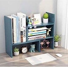 MQH Desktop Bookshelf Expandable Wood Desktop