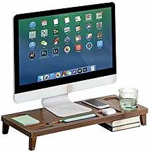MQH Desktop Bookshelf Monitor Stand Riser Bamboo