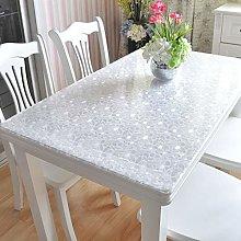 Mqing Vinyl Plastic Tablecloth,Table Protector PVC