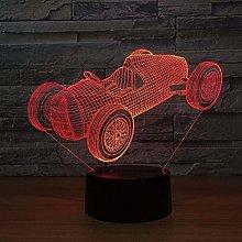 MQJ 3D Night Light Old Racing USB Night Light 7