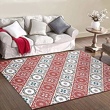 MQJ Carpets Ornaments for Living Room Red Beige
