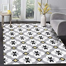 MQJ Carpets Washable Rugs for Living Room Yellow