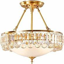 MQJ Ceiling Light,4-Lights Modern Crystal Ceiling