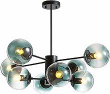 MQJ Chandelier,16 Lights Black Pendant Lighting