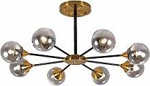 MQJ Chandelier,6 Lights Black Pendant Lighting