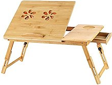 MQJ Folding Table,Bamboo Laptop Table Simple